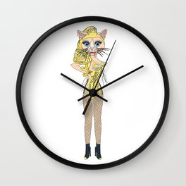Kitty Blonde Ambition Wall Clock