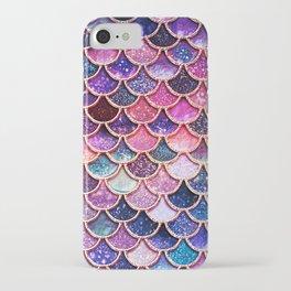 Pink & Purple Trendy Glitter Mermaid Scales iPhone Case