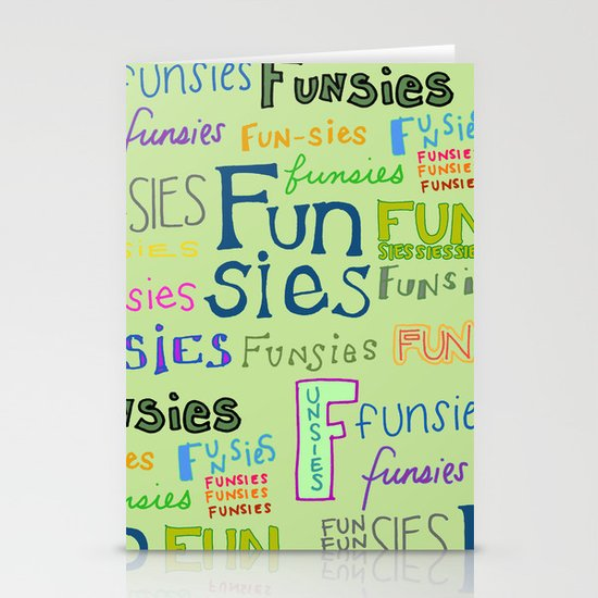 Funsies, 2 Stationery Cards