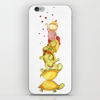 turtles iPhone & iPod Skins featuring turtles by La Bella Leonera