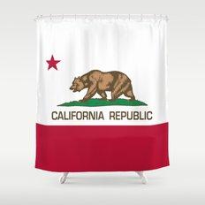California Republic Flag - Bear Flag Shower Curtain