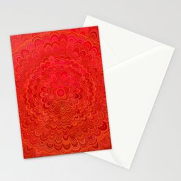 Fire Flower Mandala Stationery Cards