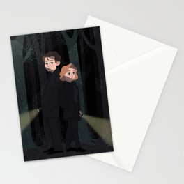 Mulder and Scully Stationery Cards