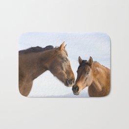 Modern Horse Photo in Color Bath Mat