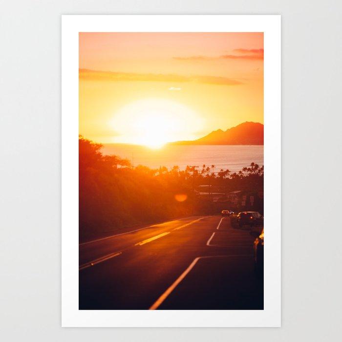 Hawaii Kai Sunset Art Print