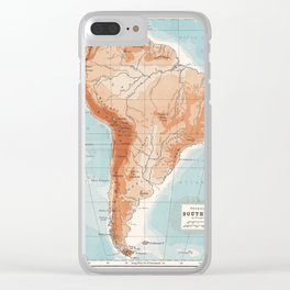 Antique Map of South America Clear iPhone Case
