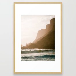 Vik, Iceland - Golden Hour Framed Art Print