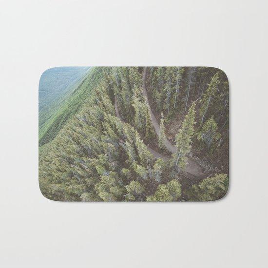 Forest Landscape Photography | Ariel View | Banff Gondola | Alberta | Canada Bath Mat