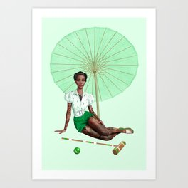 Croquet and Ink Five Art Print