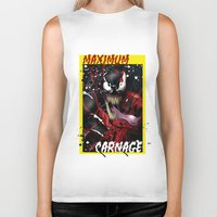 carnage Biker Tanks featuring Maximum Carnage by JHC Studio