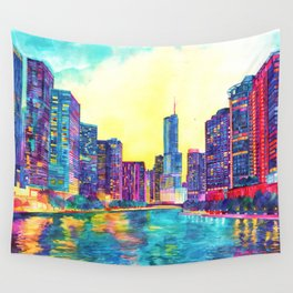 Chicago River Wall Tapestry
