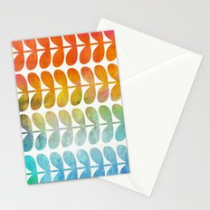 Colorful Leaves from Blue to Orange Stationery Cards