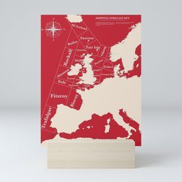 Red Shipping Forecast Mini Art Print