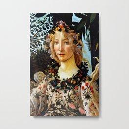 "Sandro Botticelli ""Primavera"" Flora Metal Print"