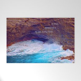 """""""Kauai's Land's End #9"""" with poem: At Times Welcome Mat"""