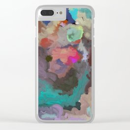 Colorful Abstract Textures Clear iPhone Case