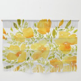 Watercolor California poppies (Quad set, #2) Wall Hanging