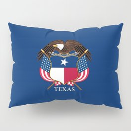 Texas flag and eagle crest concept Pillow Sham