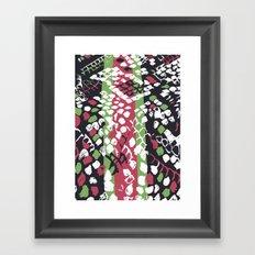Coloured Snake Skin  Framed Art Print