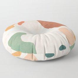 Organic Terracotta Thin Shapes  Floor Pillow
