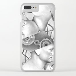 in a dream we are connected Clear iPhone Case