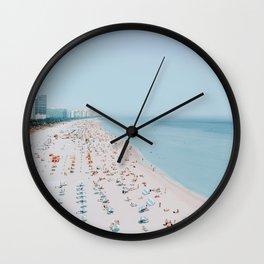 miami beach, florida Wall Clock