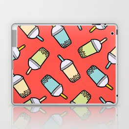 Bubble Tea Pattern in Red Laptop & iPad Skin
