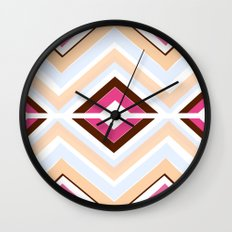 Mod stripes in raspberry Wall Clock