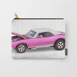 Hot Wheels Pink Party 427 SS Pony Car 67 Redline with white hardtop hood open Carry-All Pouch