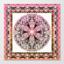 Robust Rustic Love Hue Rosy Purity Mandala Canvas Print