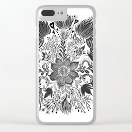 Me and you, day and night in our messy garden Clear iPhone Case
