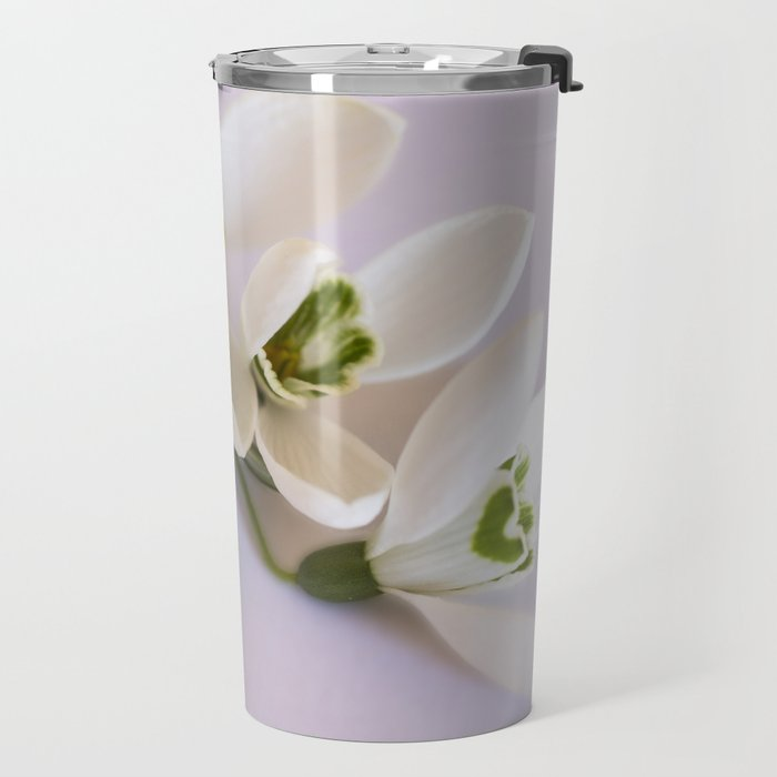Snowdrops - First Spring Flowers Travel Mug