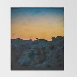 Shadowed Sheep Throw Blanket