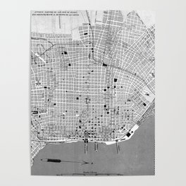 Vintage Map of Buenos Aires Argentina (1888) Poster