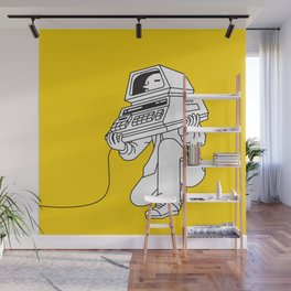 Computer head Wall Mural