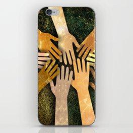 Grunge Community of Hands iPhone Skin