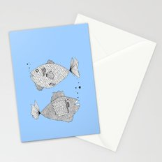 Two Fish Blue Fish Stationery Cards