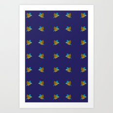 bird pattern Art Print