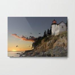 Bass Harbor Head Lighthouse Acadia National Park Metal Print
