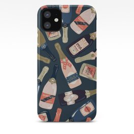 French Champagne Collection – Teal iPhone Case