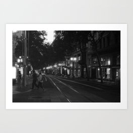 Getting to the Train Stop Art Print