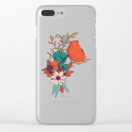 Botanical pattern 010 Clear iPhone Case