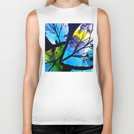 Colorful leaves. A translucent universe full of peace and harmony. Biker Tank