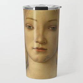 "Sandro Botticelli ""The Virgin and Child with Saint John and an Angel"" The Virgin Travel Mug"