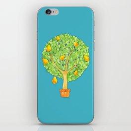 Pear Tree teal iPhone Skin