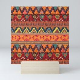 Tribal Ethnic (earth colors) Mini Art Print