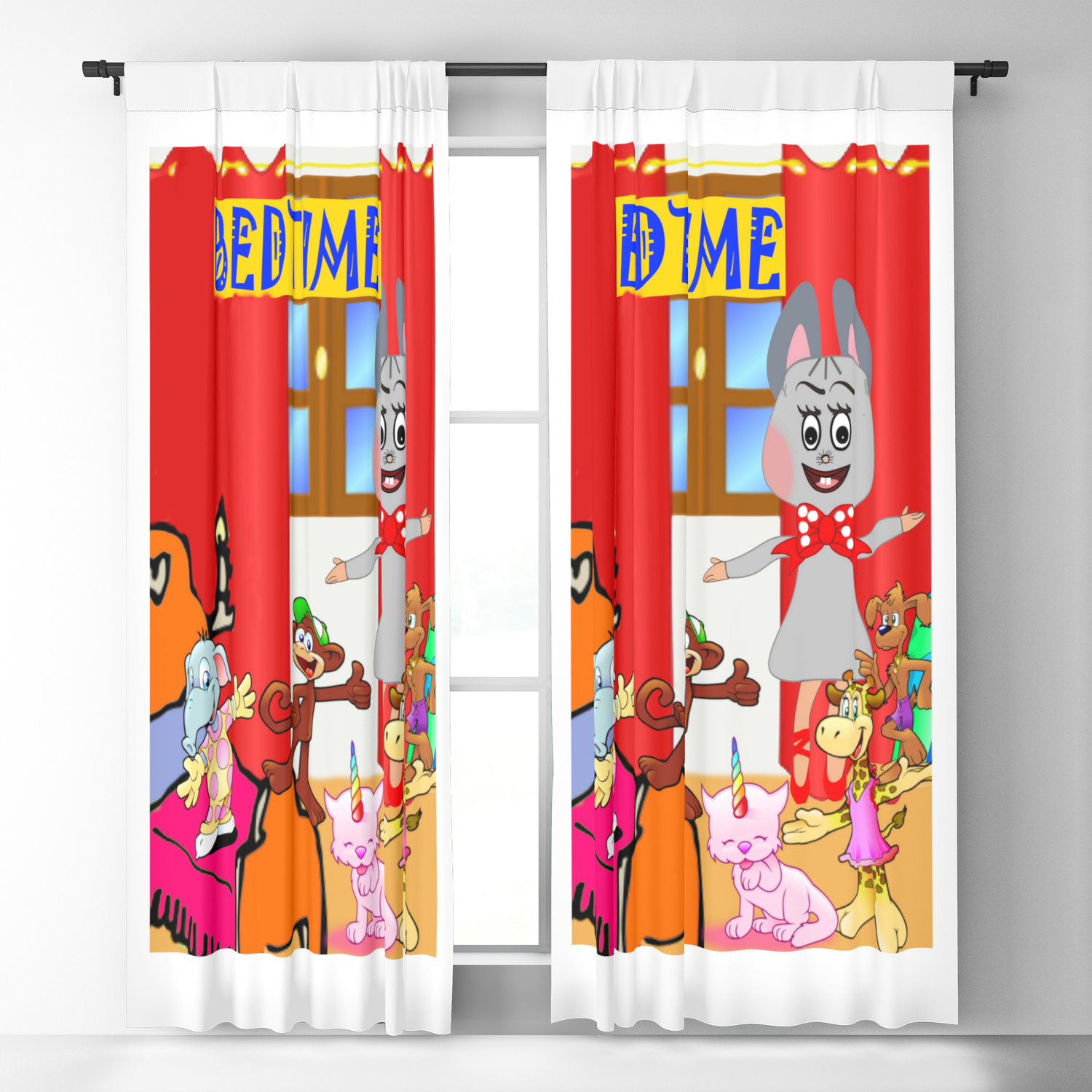 Kids children bedroom Blackout Curtain by angelajaywriter
