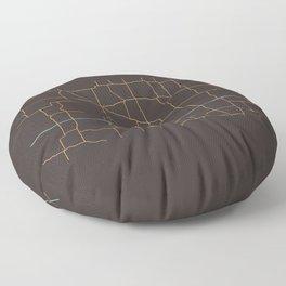 North Dakota Highways Floor Pillow