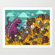 Atomic Fire Attack GO! Art Print