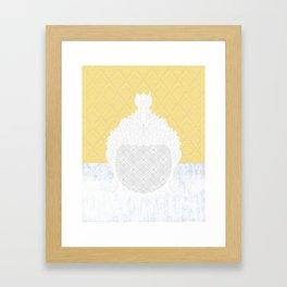 yllwpttrnbddh Framed Art Print